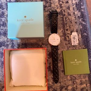 Kate Spade quilted leather band watch